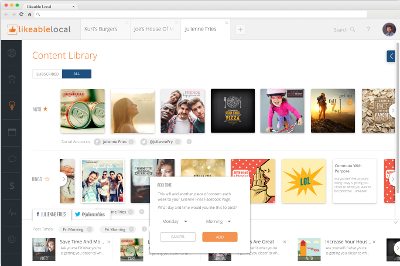 LikeableLocal Content Library Design